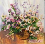 Набор-миди для вышивки бисером на натуральном художественном холсте Нежный букет