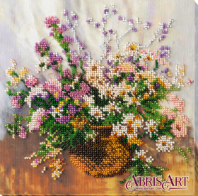 Набор-миди для вышивки бисером на натуральном художественном холсте Нежный букет Абрис Арт AMB-035 - 210.00грн.
