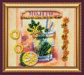 Набор-магнит для вышивки бисером Мохито