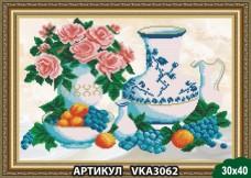 Рисунок на ткани для вышивки бисером Завтрак с виноградом Art Solo VKA3062