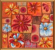 Набор для вышивки в смешанной технике Цветочная мозаика