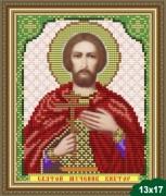 Рисунок на ткани для вышивки бисером Св. Виктор