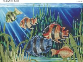 Схема для вышивки бисером на габардине Аквариумные рыбки Acorns А3-К-092 - 70.00грн.