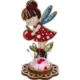 Игольница набор для вышивки бисером Ангел-девочка красная Волшебная страна FLK-283 - 270.00грн.