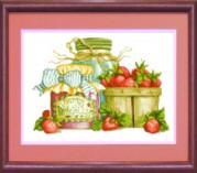 Схемы для вышивания бисером на авторской канве Дачный натюрморт