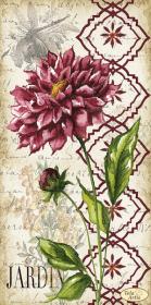 Схема для вышивки бисером на атласе Винтаж. Георгина