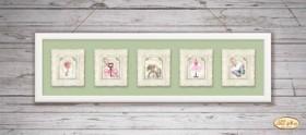 Схема для вышивки бисером на атласе Винтажная коллекция миниатюр, , 60.00грн., М-001-005, Tela Artis (Тэла Артис), Картины из нескольких частей