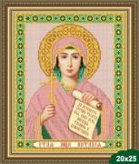 Рисунок на ткани для вышивки бисером Святая Наталья