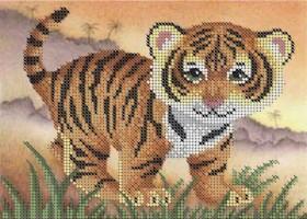 Схема для вышивки бисером на габардине Тигрёнок Акорнс А5-Д-273 - 33.00грн.