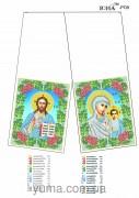 Схема для вышивки бисером рушника для иконы