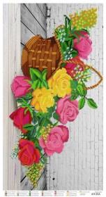 Схема для вышивания бисером на атласе Волшебные розы