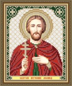 Схема вышивки бисером на авторской канве Святой Мученик Леонид Art Solo VIA5194 - 25.00грн.