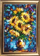 Набор для вышивки бисером Подсолнухи в вазе ( по картине Л. Афремова) Баттерфляй (Butterfly) 179Б