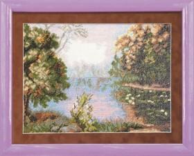 Набор для вышивки крестом Озеро в лесу