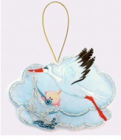 Набор для изготовления игрушки из фетра для вышивки бисером Аист с мальчиком Баттерфляй (Butterfly) F038 - 57.00грн.