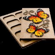 Органайзер с крышкой под вышивку бисером Бабочки