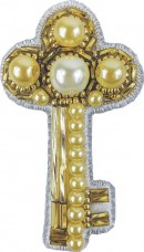 Брошь из бисера Ключик Cristal Art БП-265