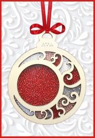 Набор новогоднее украшение из фанеры Новогодняя игрушка Шар, , 157.00грн., F-097, Чарiвна мить (Чаривна мить), Новый год
