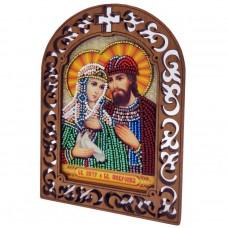 Набор для вышивки бисером на деревяной основе Петр и Февронья Вдохновение IKF05