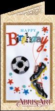 Набор-открытка для вышивки бисером Моему футболисту Абрис Арт АО-144