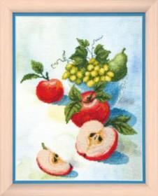 Набор для частичной вышивки крестиком Акварельные яблочки