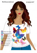 Женская футболка для вышивки бисером Бабочки
