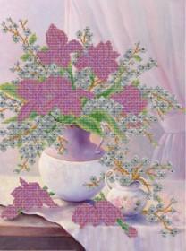Схема вышивки бисером на атласе Нежные цветы А-строчка АХ2-069 - 159.00грн.