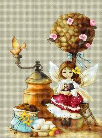 Набор для вышивки крестом Кофейная фея
