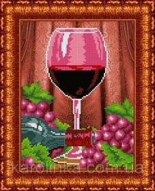 Набор для вышивки бисером Бокал вина