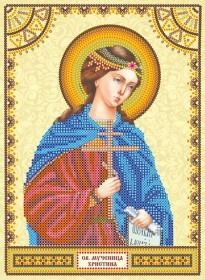 Схема для вышивки бисером на холсте Святая Христина (Кристина)