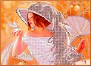 Набор для вышивки бисером Девушка с веером