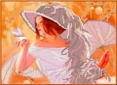 Набор для вышивки бисером Девушка с веером Каролинка КБЛН-4002