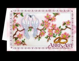Набор для вышивки бисером Открытка-конверт Свадебные птицы Абрис Арт АОМ-012 - 89.00грн.