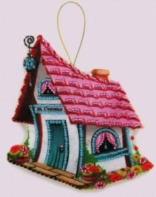 Набор для изготовления игрушки из фетра для вышивки бисером Домик счастья Баттерфляй (Butterfly) F120 - 54.00грн.