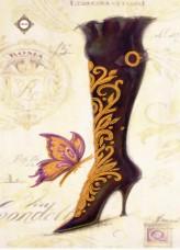 Схема для вышивки бисером на атласе Итальянский кутюр Миледи СЛ-3134