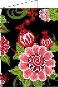Схема вышивки бисером на атласе Обложка для паспорта, , 36.00грн., ЮМА-Д6, Юма, Обложки на паспорта