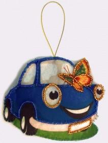 Набор для изготовления игрушки из фетра для вышивки бисером Машинка Баттерфляй (Butterfly) F036 - 57.00грн.