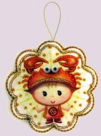 Набор для изготовления игрушки из фетра для вышивки бисером Рак, , 48.00грн., F124, Баттерфляй (Butterfly), Гороскоп
