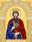 Схема для вышивки бисером на атласе Св. Князь Вячеслав Чешский