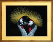 Схемы для вышивания бисером на авторской канве Птицы