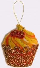 Набор для изготовления игрушки из фетра для вышивки бисером Кексик Баттерфляй (Butterfly) F034