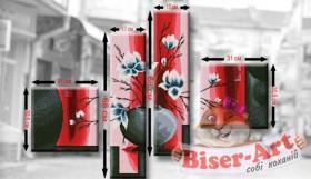Схема для вышивки бисером Полиптих Сакура Biser-Art Т1 - 220.00грн.