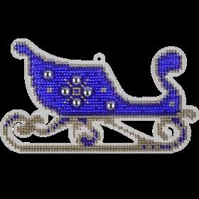 Набор для вышивки бисером на пластиковой основе Сани
