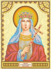 Схема для вышивки бисером на холсте Святая Екатерина