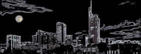 Схема вышивки бисером на атласе Ночной город