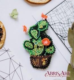 Набор для вышивки бисером украшения Кактус
