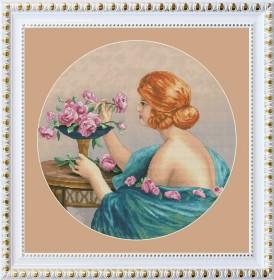 Набор для вышивки нитками Девушка с розами OLANTA VN-112 - 475.00грн.