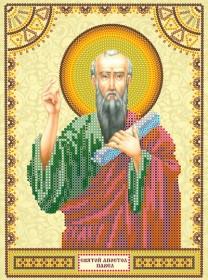 Схема для вышивки бисером на холсте Святой Павел