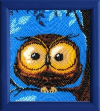 Схема для вышивки бисером на атласе Совенок Баттерфляй (Butterfly) 957Б