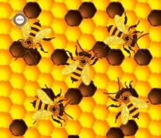 Пошитый клатч для вышивки бисером Золотые пчелки Миледи КС-014
